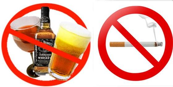cấm rượu bia thuốc lá