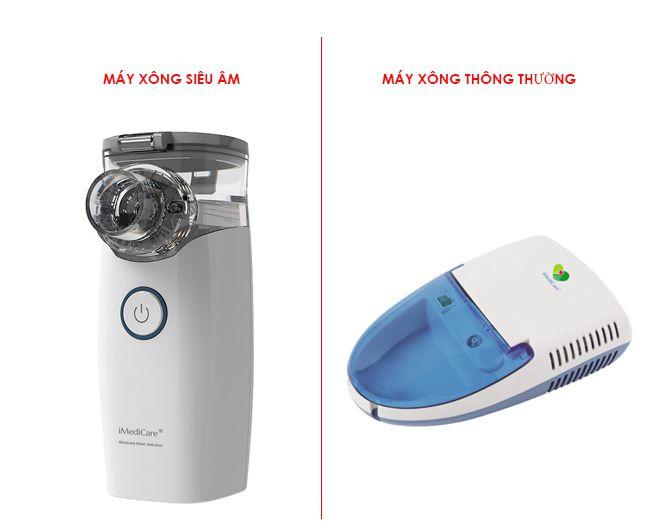 máy xông khí dung siêu âm và máy xông khí dung thường